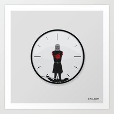The Most Worthless Clock Art Print
