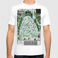 Green Glass Mens Fitted Tee White SMALL