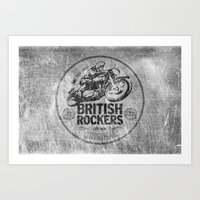 British Rockers 1967 Art Print