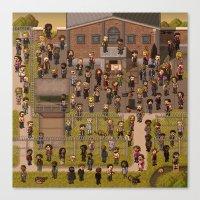 Super Walking Dead: Prison Canvas Print