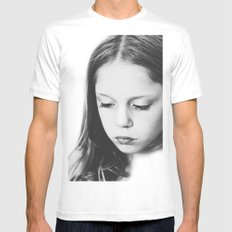 eyelashes SMALL White Mens Fitted Tee