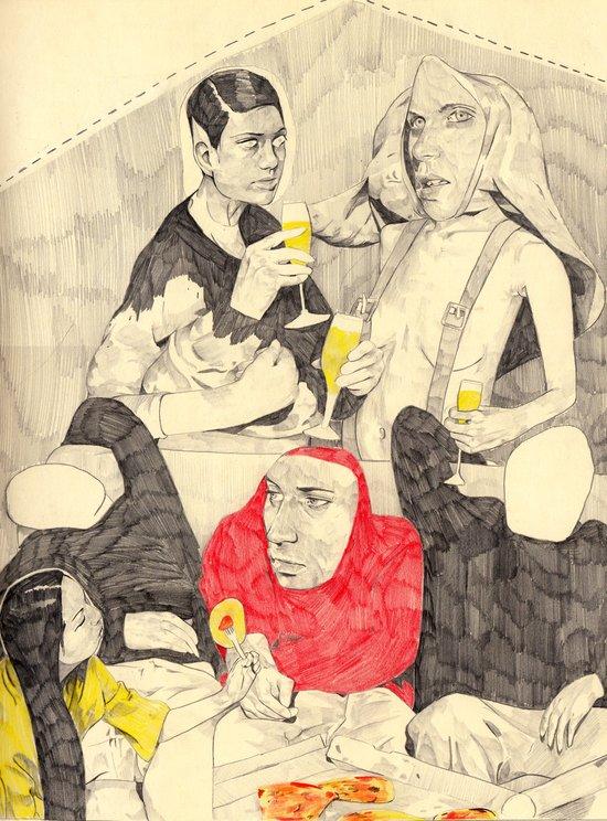 Buffet Art Print