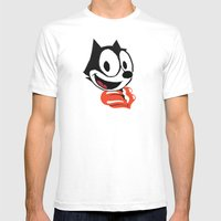 Felix The Cat Mens Fitted Tee White SMALL