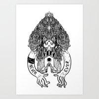 Never Ever. Art Print