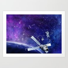 Spacewalk Art Print