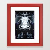 vicious little painter Framed Art Print