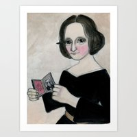 Mary Shelley and the Monster Art Print