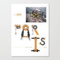 Bike to Life - Paris Canvas Print