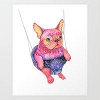 Eule the magic bulldog Art Print
