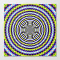 Toothed Rings In Blue An… Canvas Print