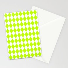 Diamonds (Lime/White) Stationery Cards