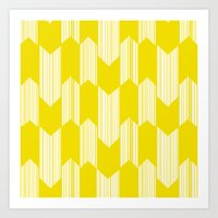 Yellow  Boho Arrows Art Print