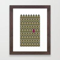 Rubine Feather Framed Art Print