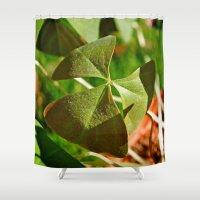 Shamrock closeup Shower Curtain