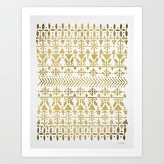 Norwegian Pattern – Go… Art Print