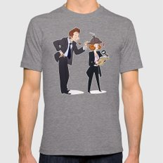 The Game is Afoot! [X-Files] Mens Fitted Tee Tri-Grey SMALL