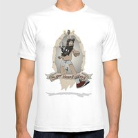 Super Beard Boy - Framed Justice! Mens Fitted Tee White SMALL
