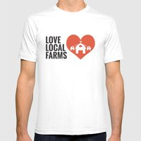 Love Local Farms Mens Fitted Tee White SMALL