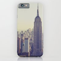 iPhone Cases featuring NYC by Chernobylbob