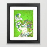 You is for Unicorn Framed Art Print