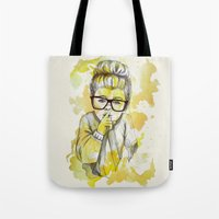 Silent Girl By Carograph… Tote Bag