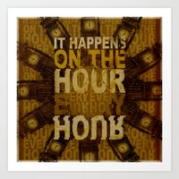 It happens!  Art Print