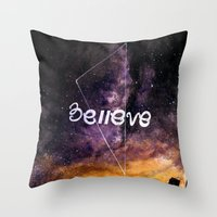 Don't Stop Believing Throw Pillow