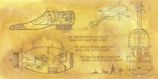POEM OF SPACESHIP Art Print