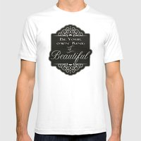 Beautiful Mens Fitted Tee White SMALL