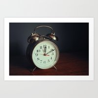 Ticking Clock Art Print