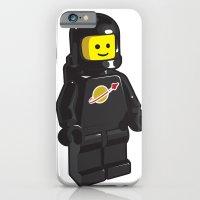 Vintage Lego Black Spaceman Minifig iPhone 6 Slim Case