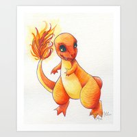 Little Charming Salamand… Art Print