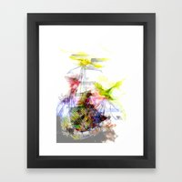 Flying Home (Glitch Remix) Framed Art Print