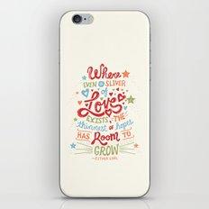 Sliver of Love iPhone & iPod Skin
