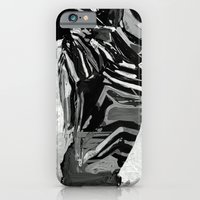 Abstract Zebra Grazing iPhone 6 Slim Case