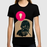 Time Traveler Womens Fitted Tee Black SMALL