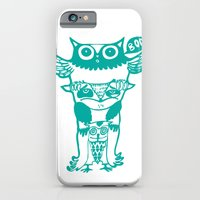 iPhone & iPod Case featuring badass owls by Andra Vlasceanu