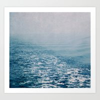bleu water Art Print