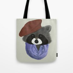 Hip Raccoon Tote Bag