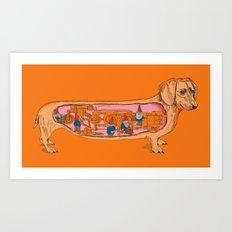 Secrets of the Dachshund  Art Print