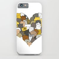 iPhone & iPod Case featuring I Love Cats by Brittany Metz