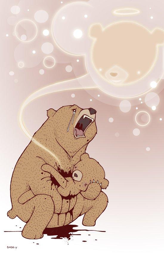 Baby Bear is sleeping Art Print