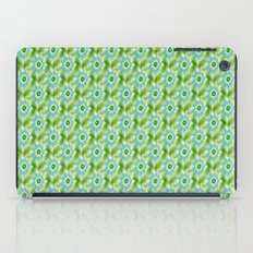 Pale Blue Green and White Flower tiled iPad Case