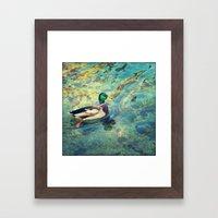 Quack;) Framed Art Print