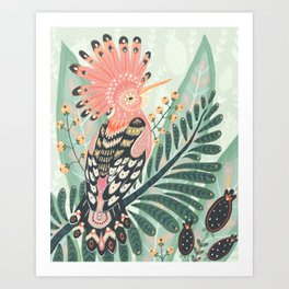 Art Print - Hoopoe Bird - Angela Rizza