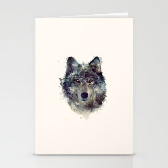 Wolf // Persevere  Stationery Card