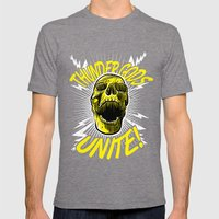 Thunder Gods Unite! Mens Fitted Tee Tri-Grey SMALL