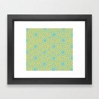 geometric vintage blue/orange Framed Art Print