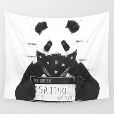 Bad panda Wall Tapestry