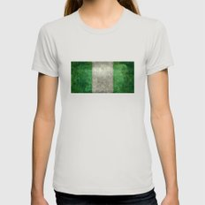 National Flag Of Nigeria… Womens Fitted Tee Silver SMALL